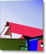 Pier Abstraction Metal Print