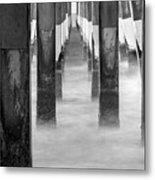 Pier At High Tide Metal Print
