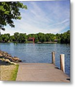 Pier At Kimberly Point Metal Print