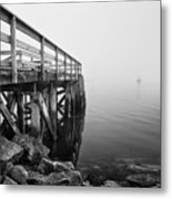 Pier At Popham Metal Print