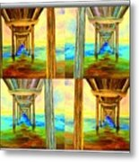 Pier Collage Metal Print