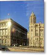 Pier Head Liverpool Panorama 2 Metal Print
