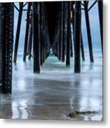 Pier Into The Ocean Metal Print