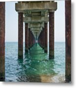Pier On The Outer Banks Metal Print