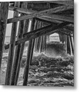 Pier Storm Metal Print