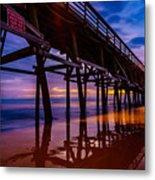 Pier Sunrise Metal Print