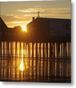 Pier Sunrise Metal Print