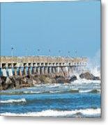 Pier Surf Metal Print