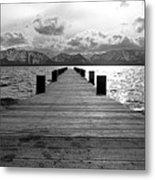 Pier To Mount Tallac Lake Tahoe Metal Print