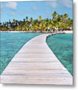 Pier To Tropical Island Metal Print by Matteo Colombo
