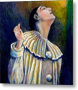 Pierrot's Peering Into The Light Metal Print