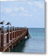 Piers By The Ocean2 Metal Print
