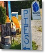 Pies, Blueberries And More Metal Print