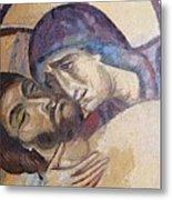 Pieta-mural Detail Metal Print