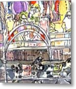 Pig Races Metal Print