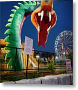 Pigeon Forge Dragon Metal Print