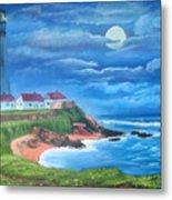 Pigeon Point Lighthouse Ca Metal Print
