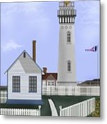 Pigeon Point Lighthouse California Metal Print