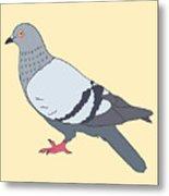 Pigeon Yellow Metal Print