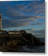 Pigon Point Lighthouse Metal Print