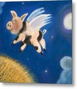 Pigs Might Fly Metal Print