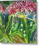 Piinta The Butterfly Flower Metal Print