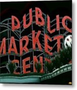 Pike Place Market Entrance 5 Metal Print