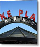 Pike Street Market Sign Metal Print