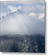 Pikes Peak In Snow Metal Print