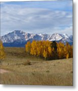 Pikes Peak In The Fall Metal Print