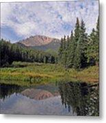 Pikes Peak Reflection Metal Print