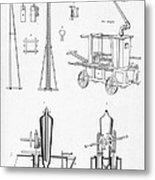 Pile Driver, Fire Engine, Steam Engine Metal Print