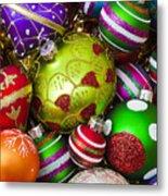 Pile Of Beautiful Ornaments Metal Print