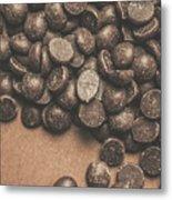 Pile Of Chocolate Chip Chunks Metal Print
