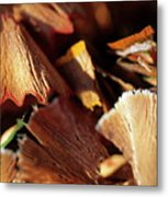 Pile Of Discarded Pencil Shavings Metal Print
