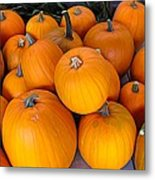 Pile Of Pumpkins For Sale Expressionist Effect Metal Print