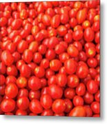 Pile Of Small Tomatos For Sale In Market Metal Print