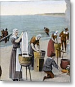 Pilgrims Washing Day, 1620 Metal Print