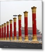 Pillars At Tiananmen Square Metal Print