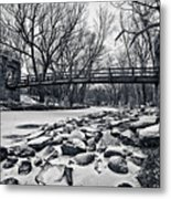 Pillars On The Shore Metal Print