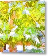 Pine Branch Under Snow Metal Print