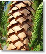 Pine Cone Art Prints Pine Tree Artwork Baslee Troutman Metal Print