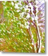 Pine Tree Covered With Snow Metal Print by Lanjee Chee