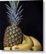 Pineapple And Bananas Metal Print