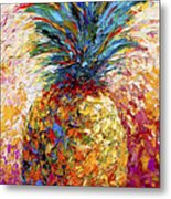 Pineapple Expression Metal Print