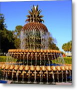 Pineapple Fountain Charleston Sc Metal Print