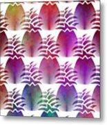 Pineapple Repeat Metal Print