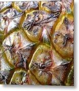 Pineapple Skin Metal Print