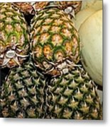 Pineapples And Melons Metal Print