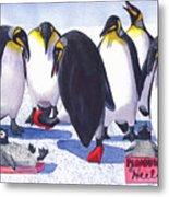 Pinguino Heels Metal Print